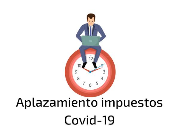 Aplazamiento de deudas tributarias Covid-19
