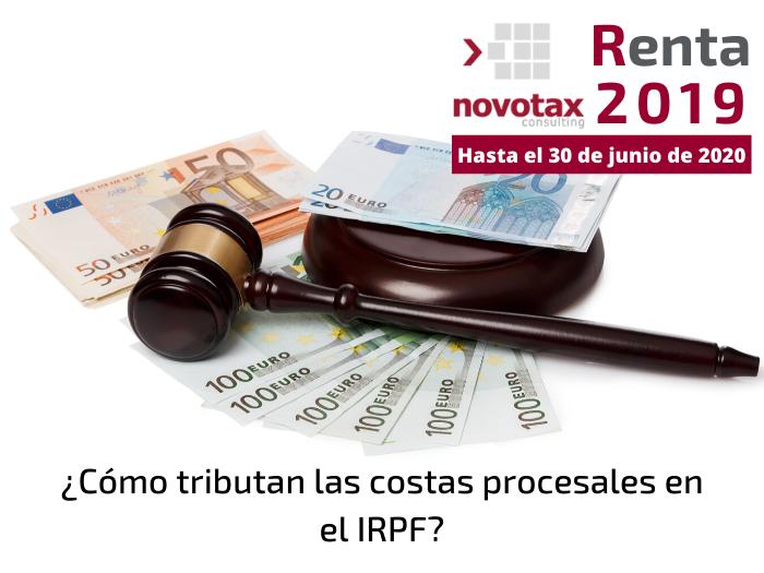 ¿Cómo tributan las costas procesales en el IRPF?