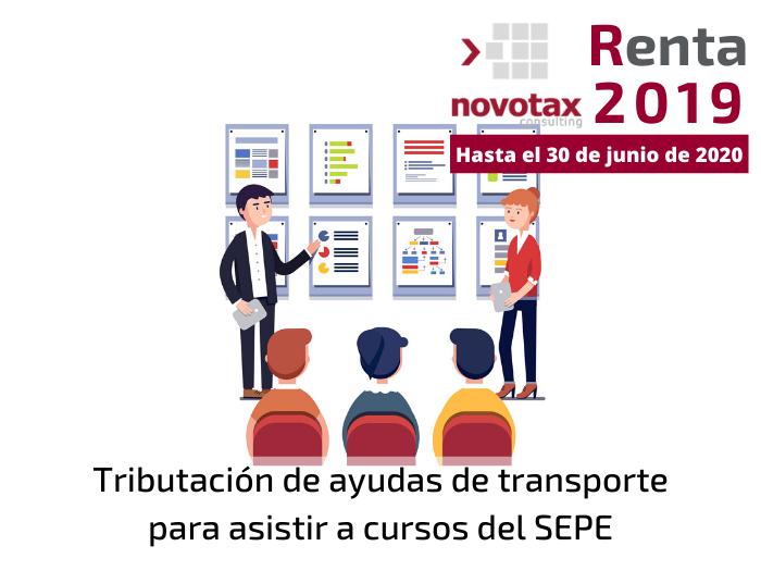 Tributación de becas y ayudas de transporte para asistir a cursos del SEPE