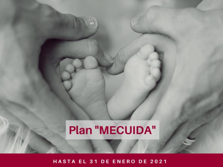 Plan «MECUIDA»: Hasta el 31 de enero de 2021