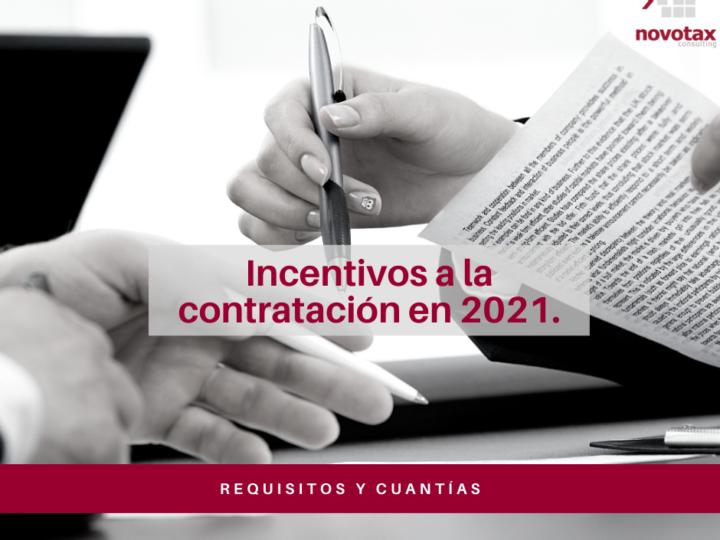 Incentivos a la contratación vigentes en 2021