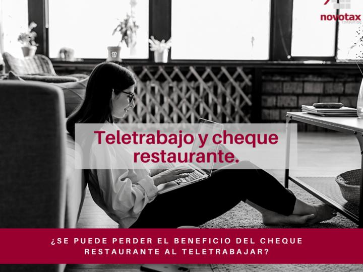 Teletrabajo y cheque restaurante