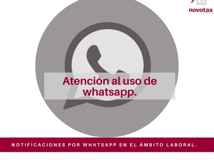 Notificaciones por whatsapp en el ámbito laboral