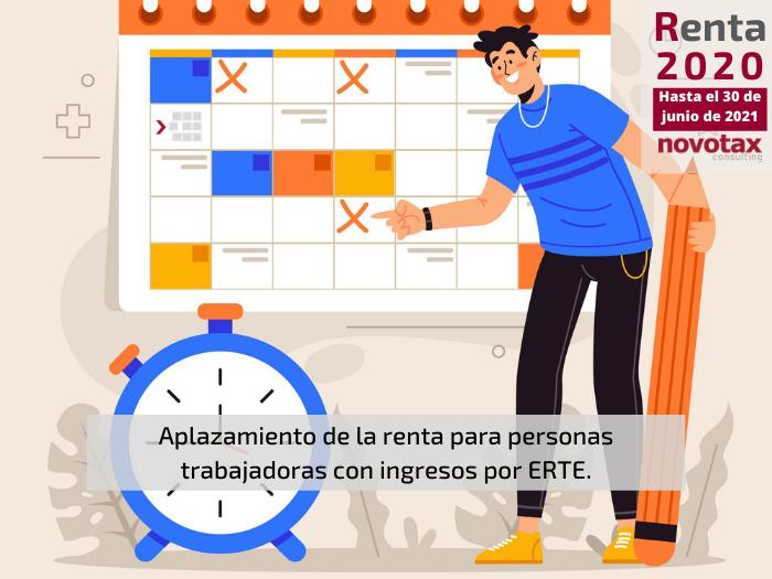 Aplazamiento del pago de la renta para trabajadores con ERTE.