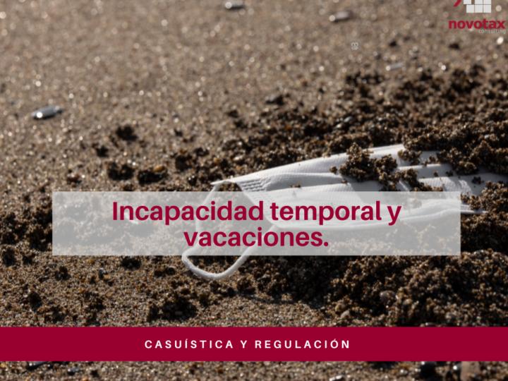 Incidencia de la incapacidad temporal en el disfrute de las vacaciones