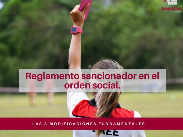 Las 3 modificaciones fundamentales del reglamento sancionador en el orden social.